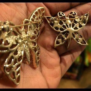 Vintage Jewelry - 🎉HP🎉 VINTAGE STAMPED BUTTERFLY BROOCHES